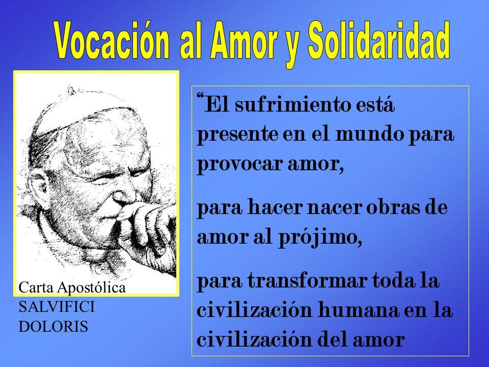 Vocación al Amor y Solidaridad