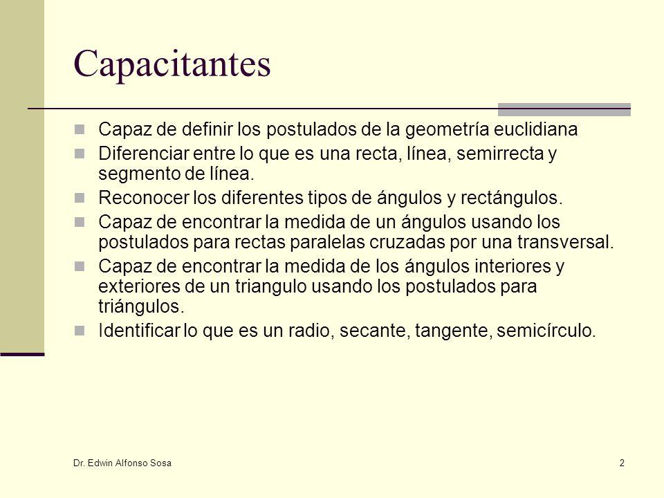 Capacitantes Capaz de definir los postulados de la geometría euclidiana.