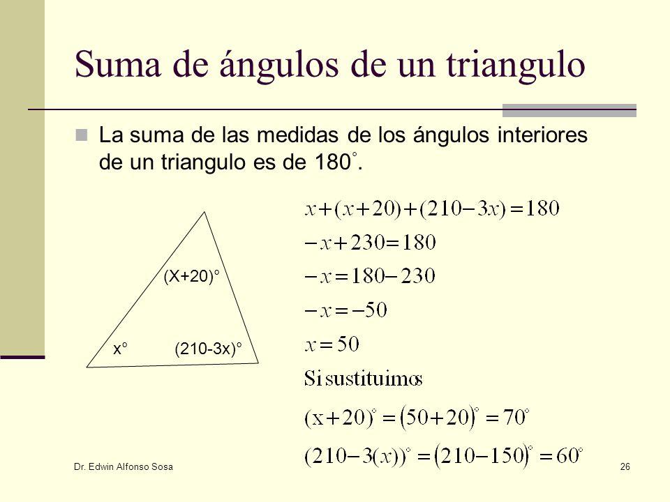 Suma de ángulos de un triangulo