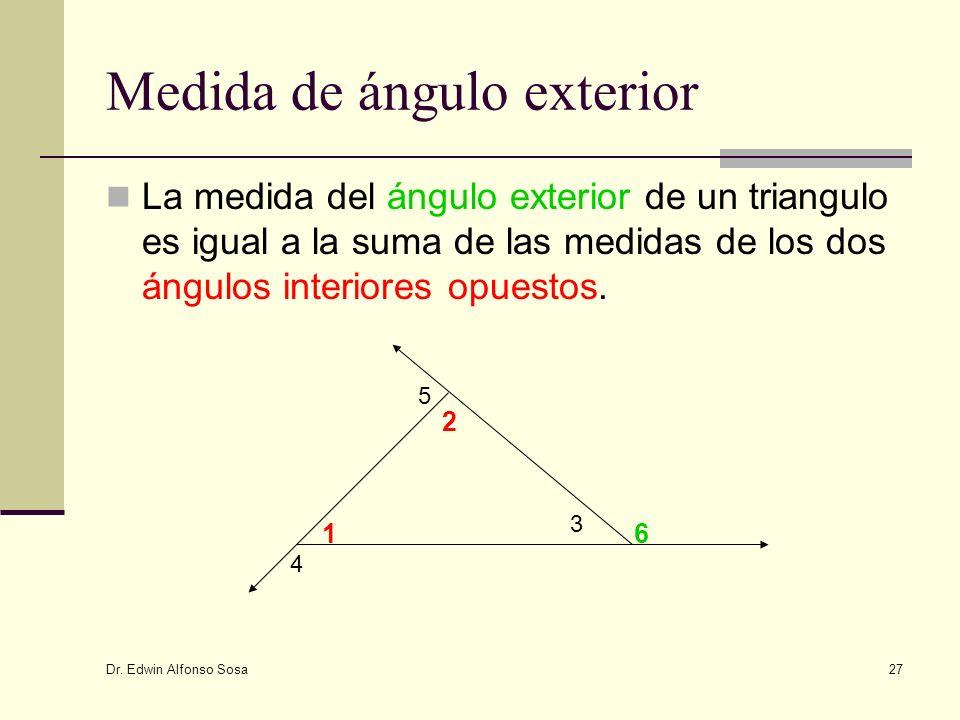 Medida de ángulo exterior
