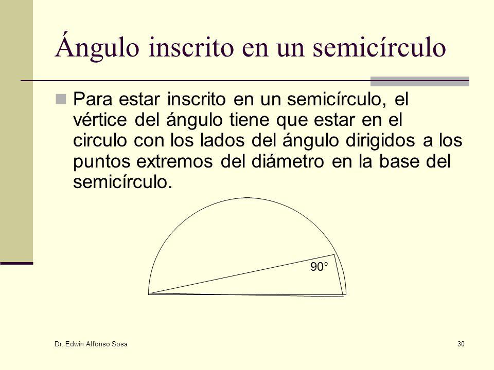 Ángulo inscrito en un semicírculo