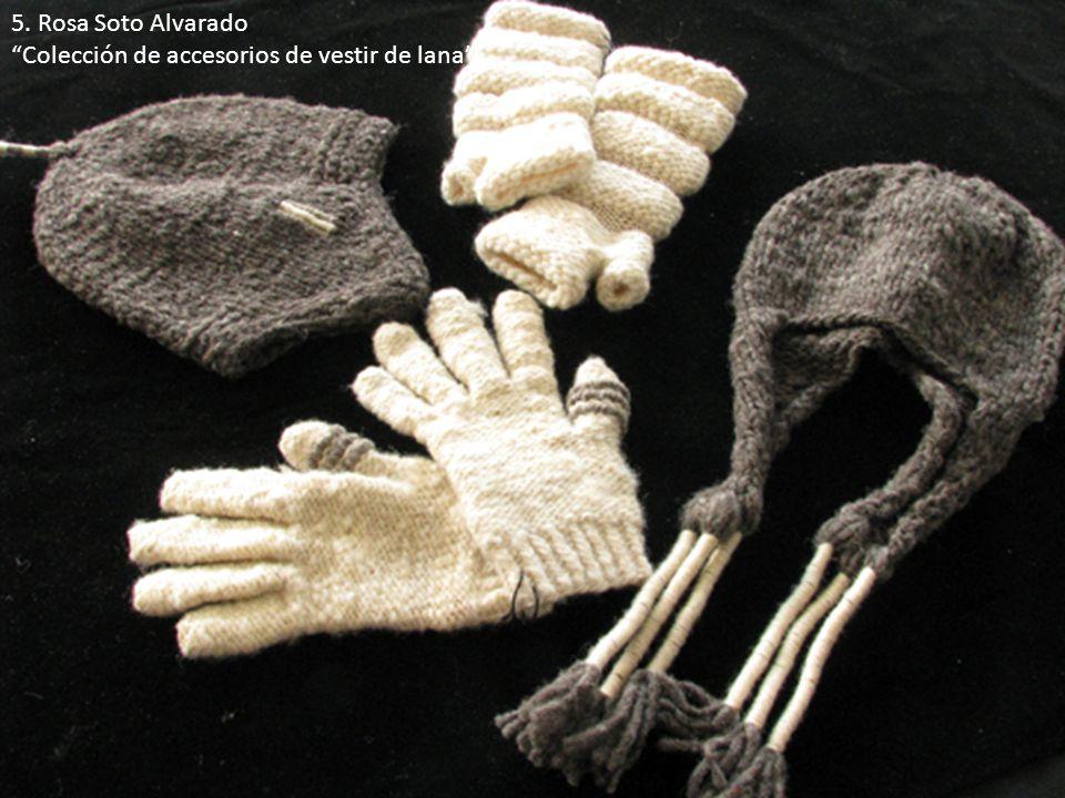 5. Rosa Soto Alvarado Colección de accesorios de vestir de lana .