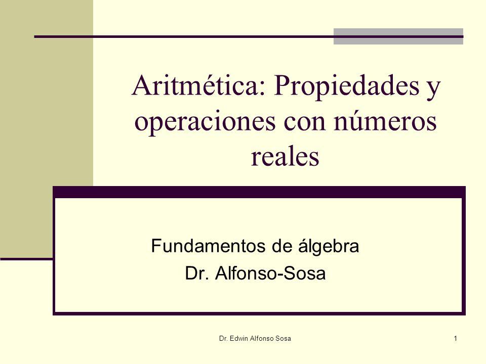 Aritmética: Propiedades y operaciones con números reales