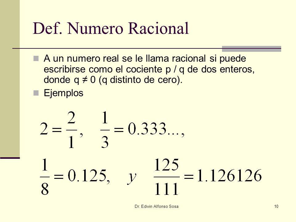 Def. Numero Racional