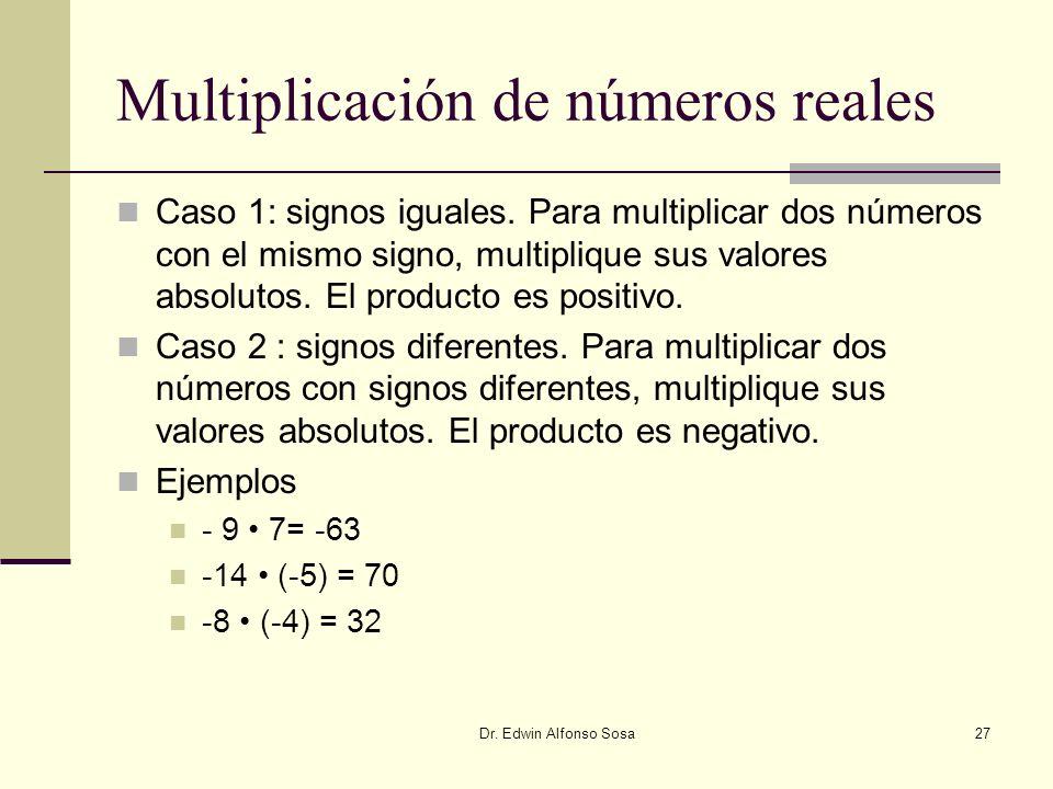 Multiplicación de números reales