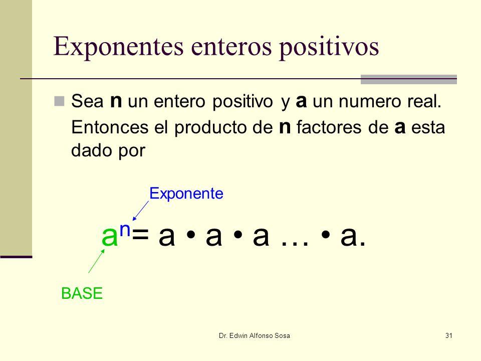 Exponentes enteros positivos