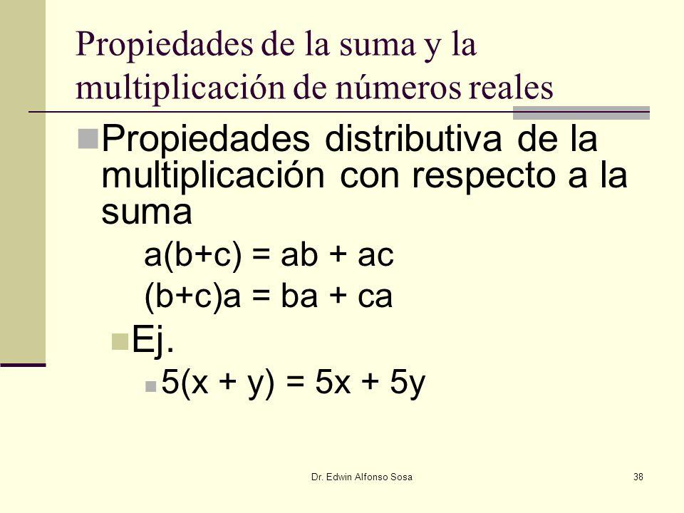 Propiedades de la suma y la multiplicación de números reales