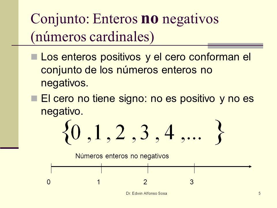 Conjunto: Enteros no negativos (números cardinales)
