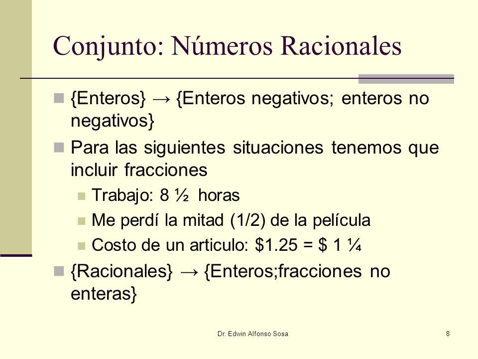Conjunto: Números Racionales