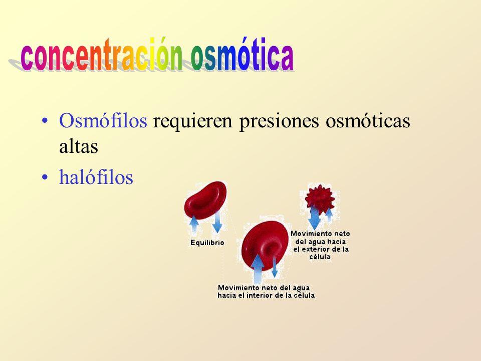concentración osmótica