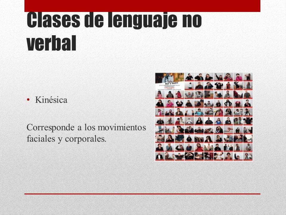 Clases de lenguaje no verbal