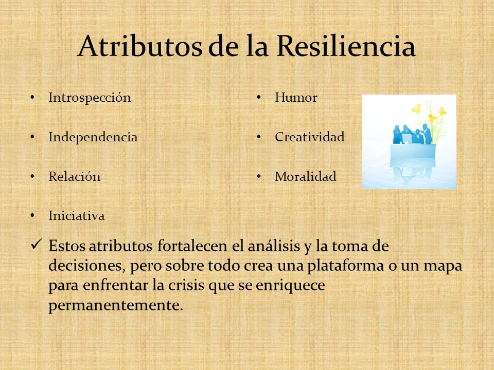 Atributos de la Resiliencia