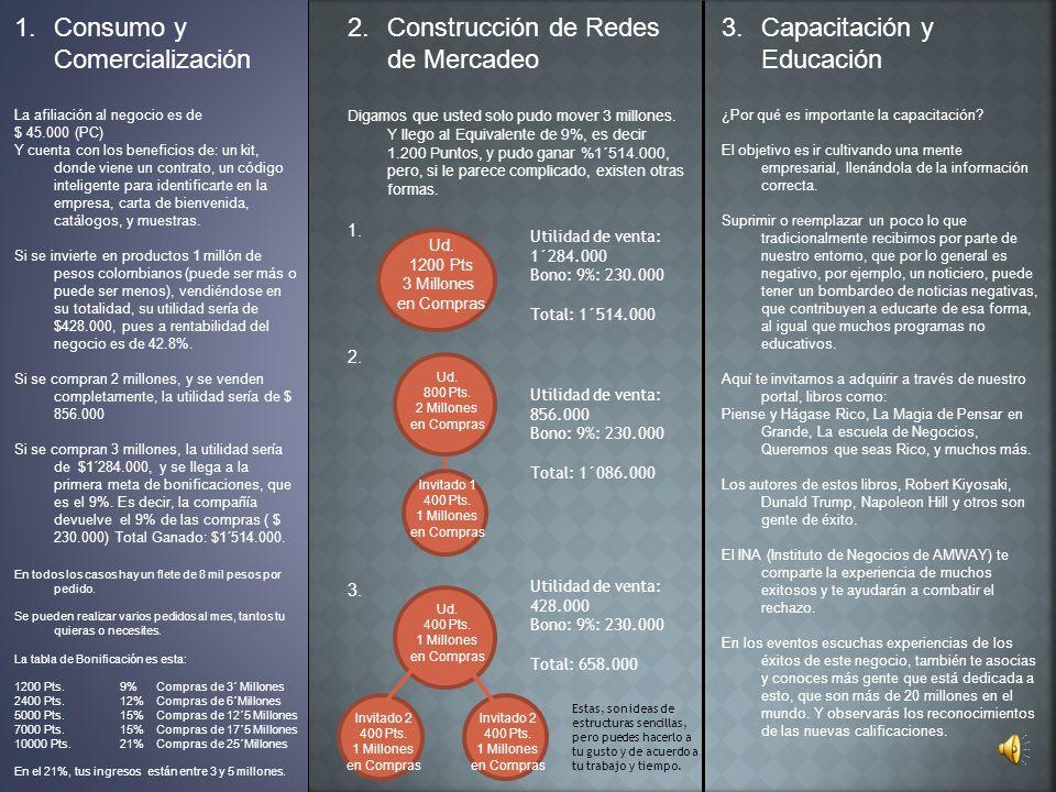 Consumo y Comercialización Construcción de Redes de Mercadeo