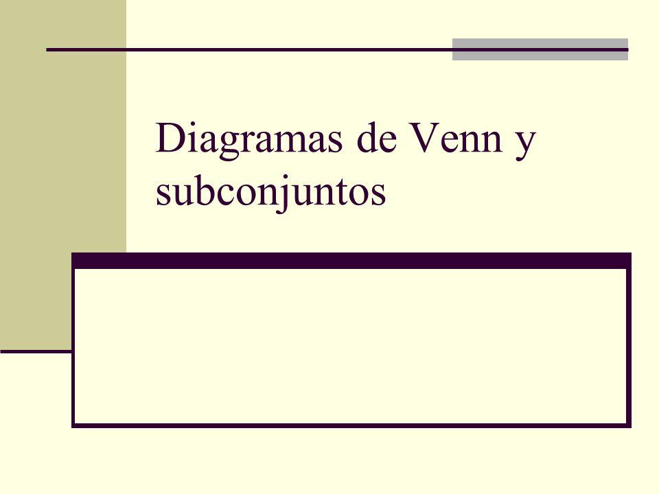 Diagramas de Venn y subconjuntos
