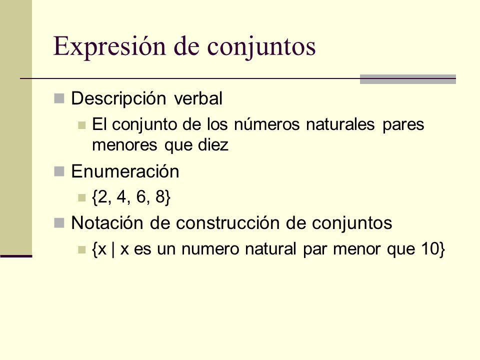 Expresión de conjuntos