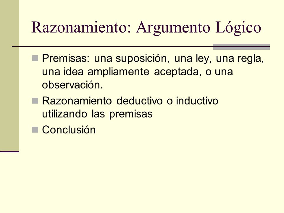 Razonamiento: Argumento Lógico