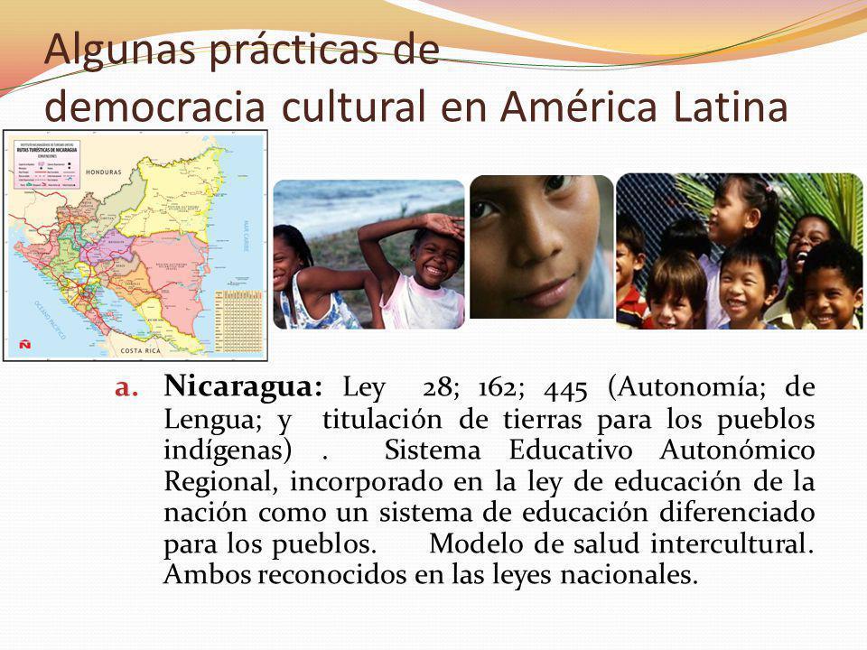 Algunas prácticas de democracia cultural en América Latina