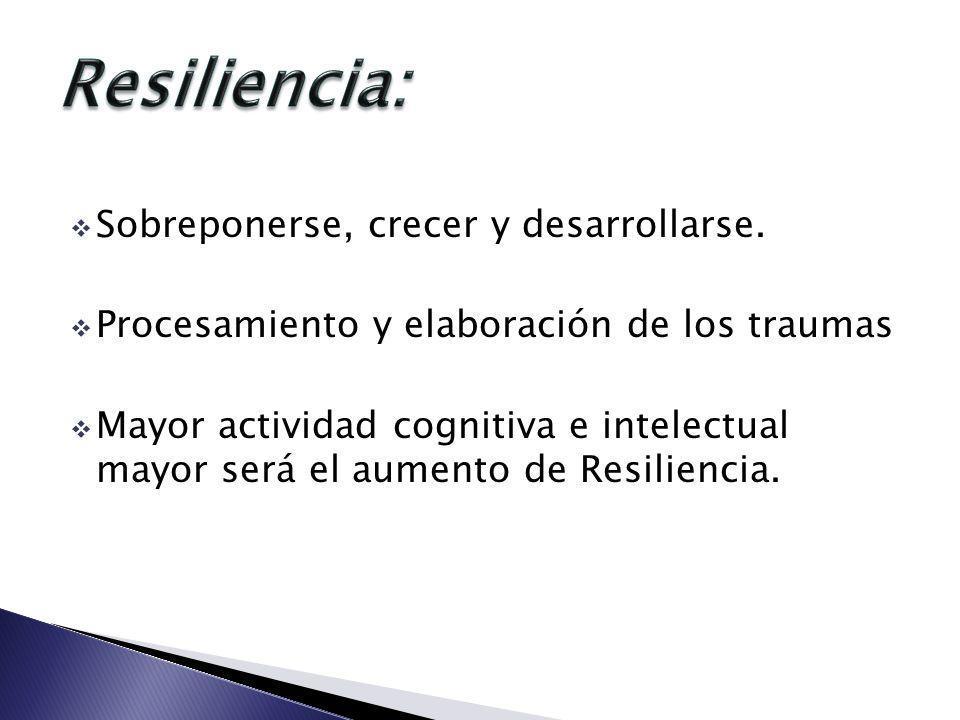 Resiliencia: Sobreponerse, crecer y desarrollarse.