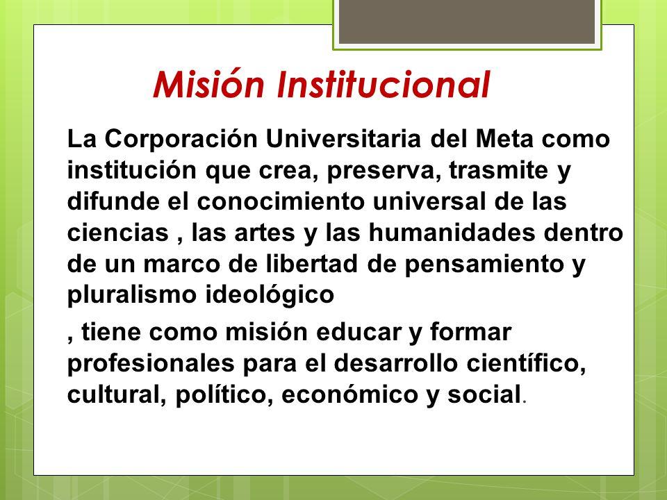 Misión Institucional