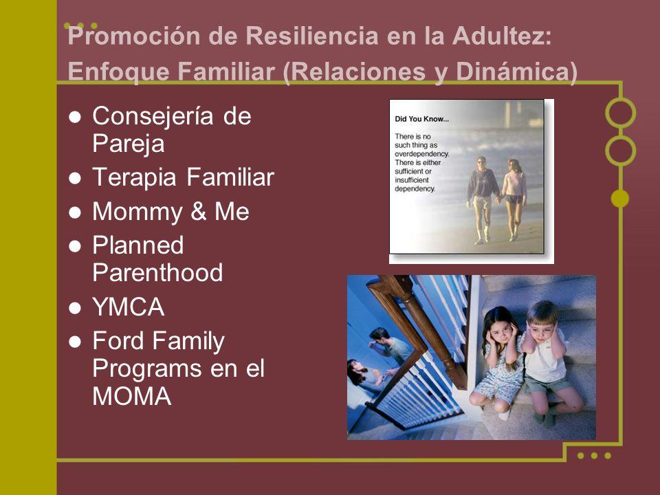 Promoción de Resiliencia en la Adultez: Enfoque Familiar (Relaciones y Dinámica)