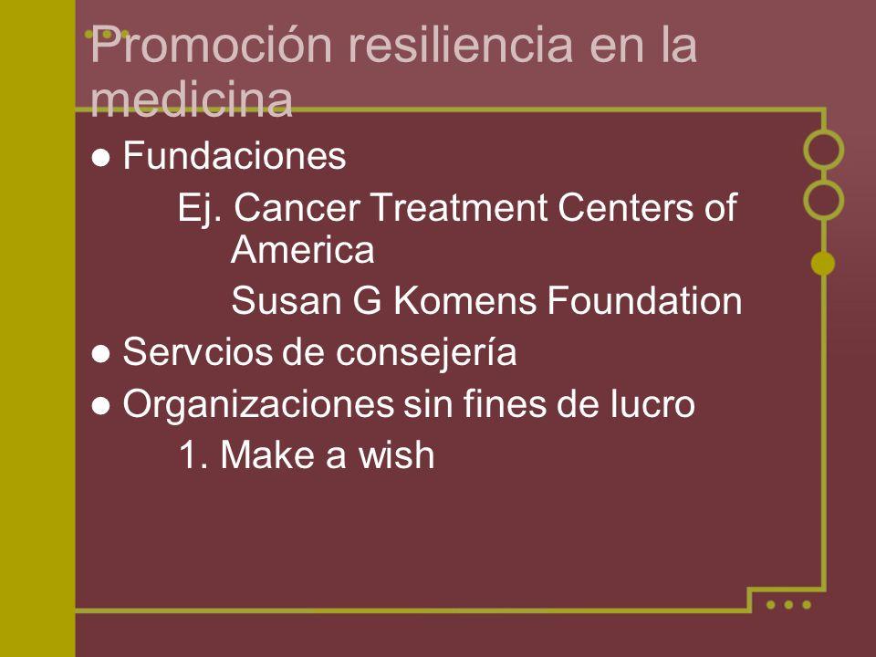 Promoción resiliencia en la medicina
