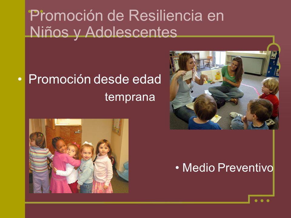 Promoción de Resiliencia en Niños y Adolescentes
