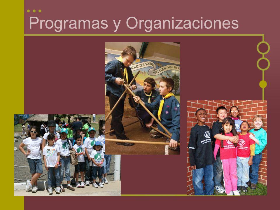 Programas y Organizaciones