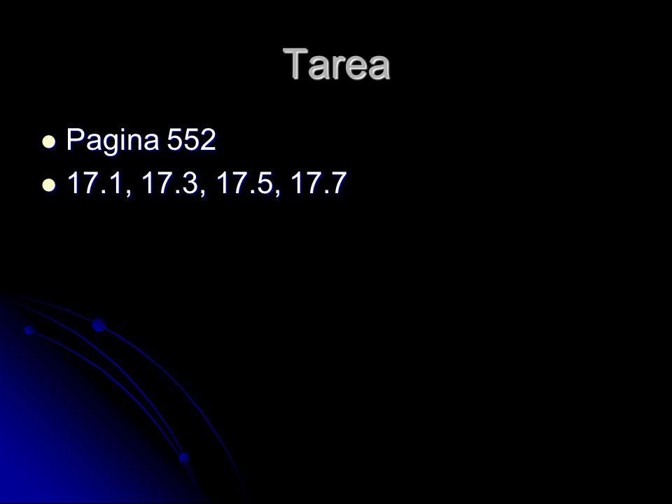 Tarea Pagina 552 17.1, 17.3, 17.5, 17.7