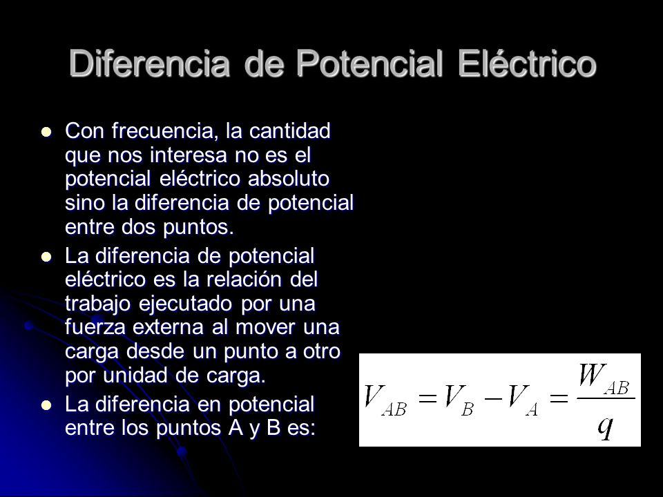 Diferencia de Potencial Eléctrico