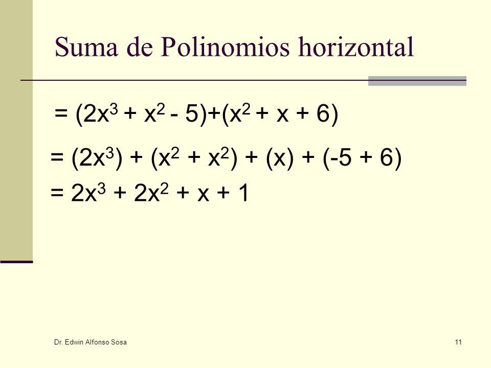 Suma de Polinomios horizontal