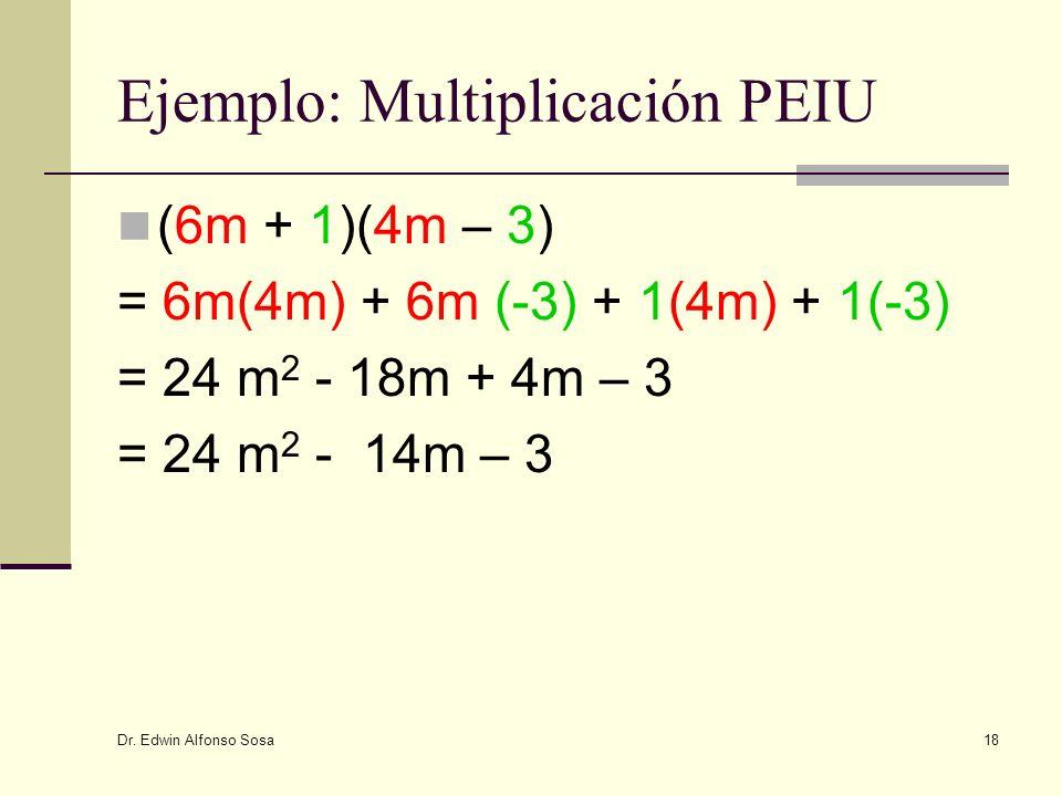 Ejemplo: Multiplicación PEIU