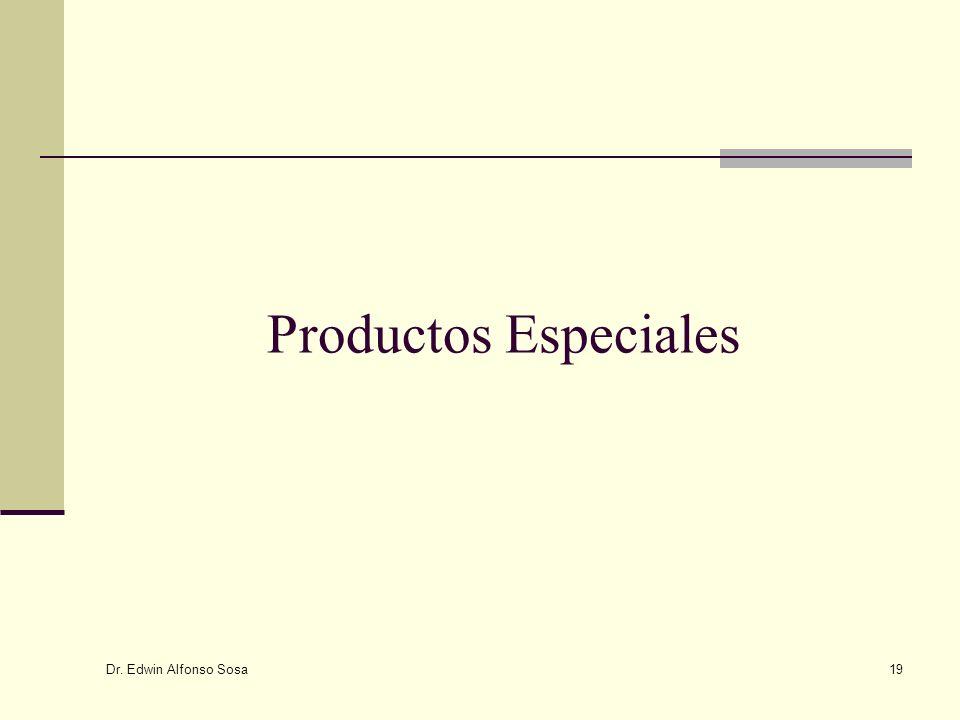 Productos Especiales Dr. Edwin Alfonso Sosa