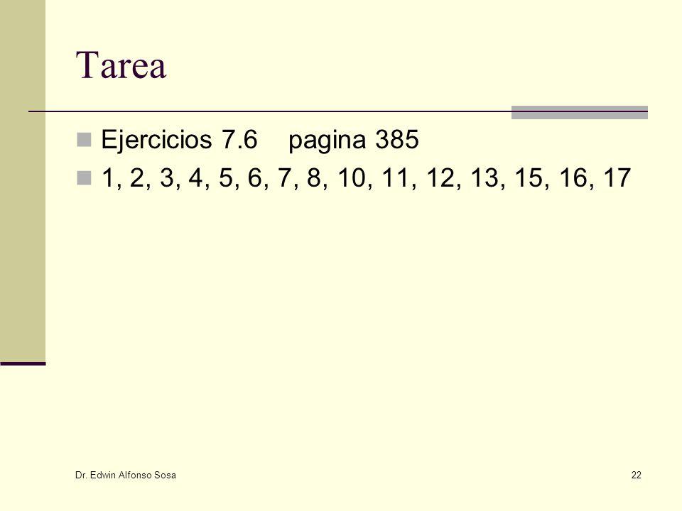 Tarea Ejercicios 7.6 pagina 385