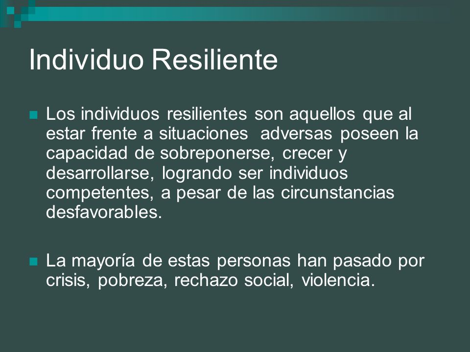 Individuo Resiliente