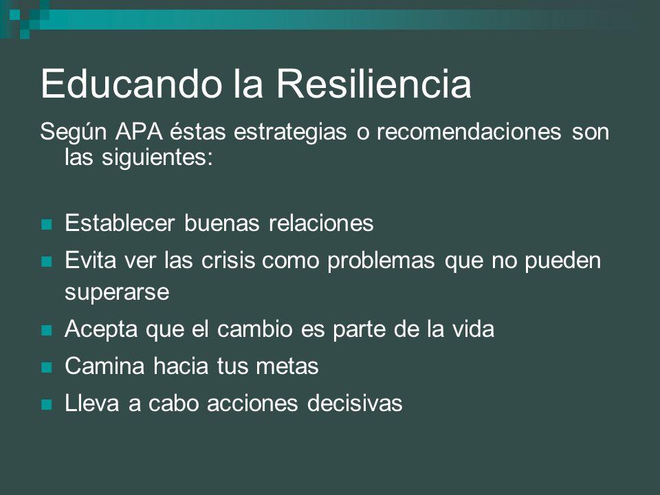 Educando la Resiliencia