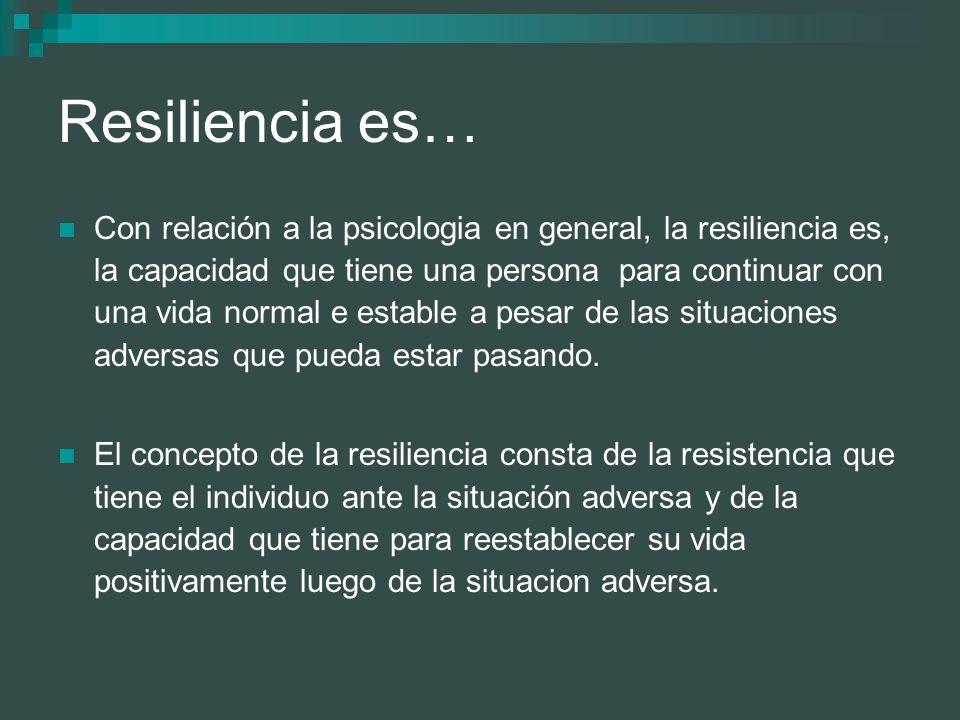 Resiliencia es…