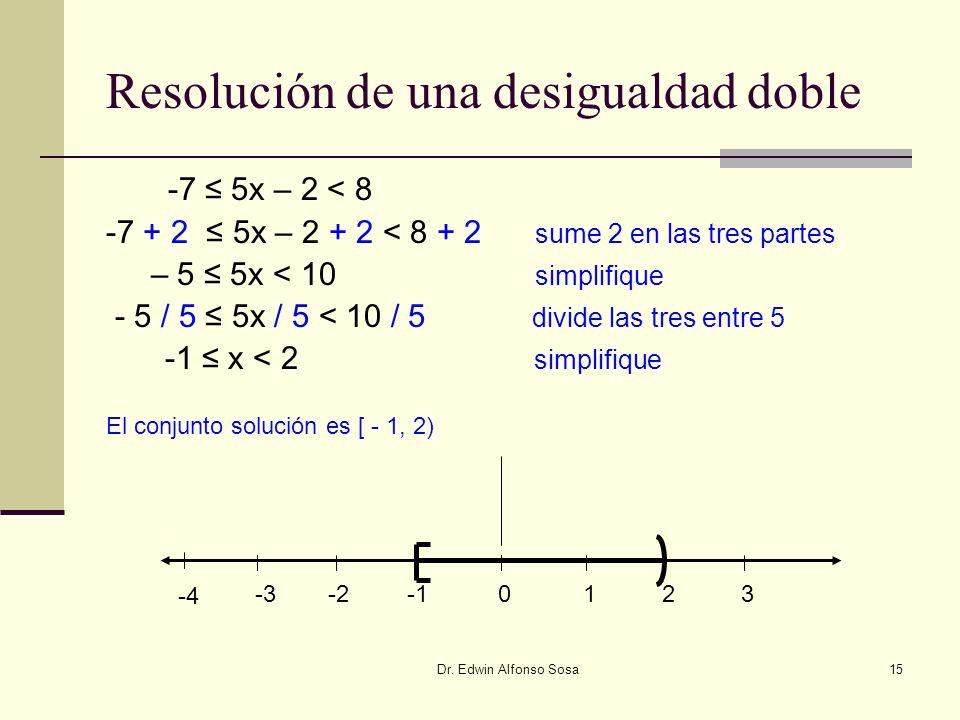 Resolución de una desigualdad doble
