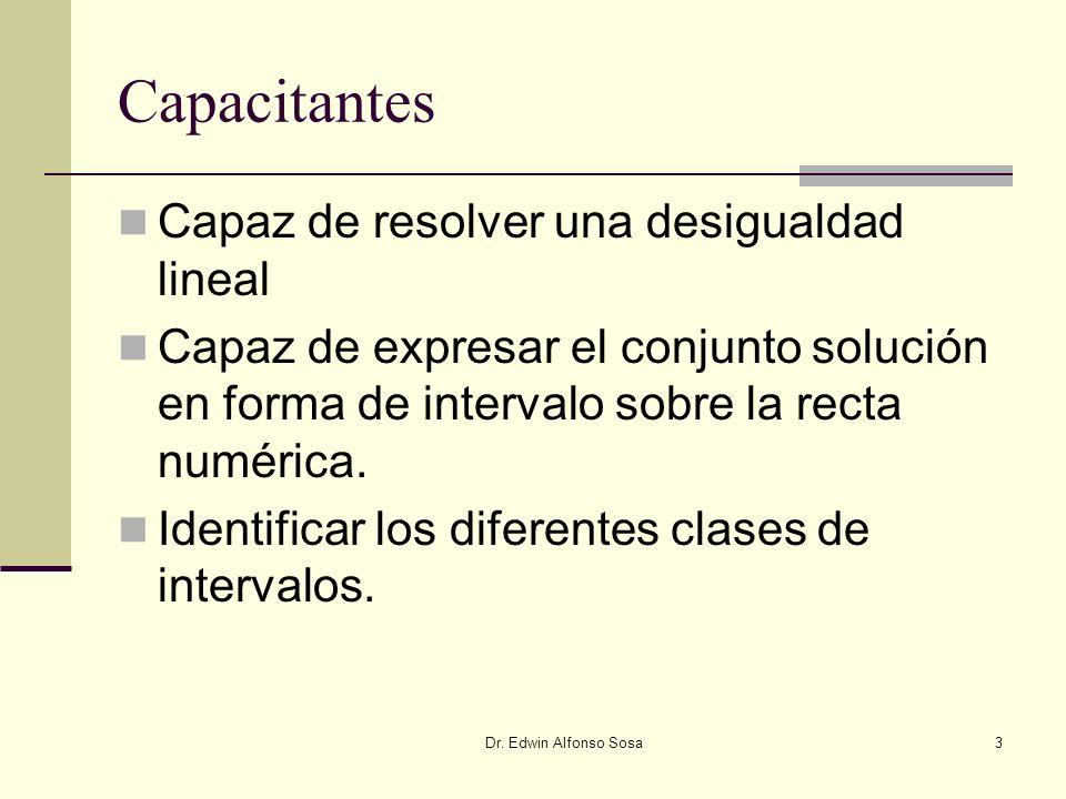 Capacitantes Capaz de resolver una desigualdad lineal
