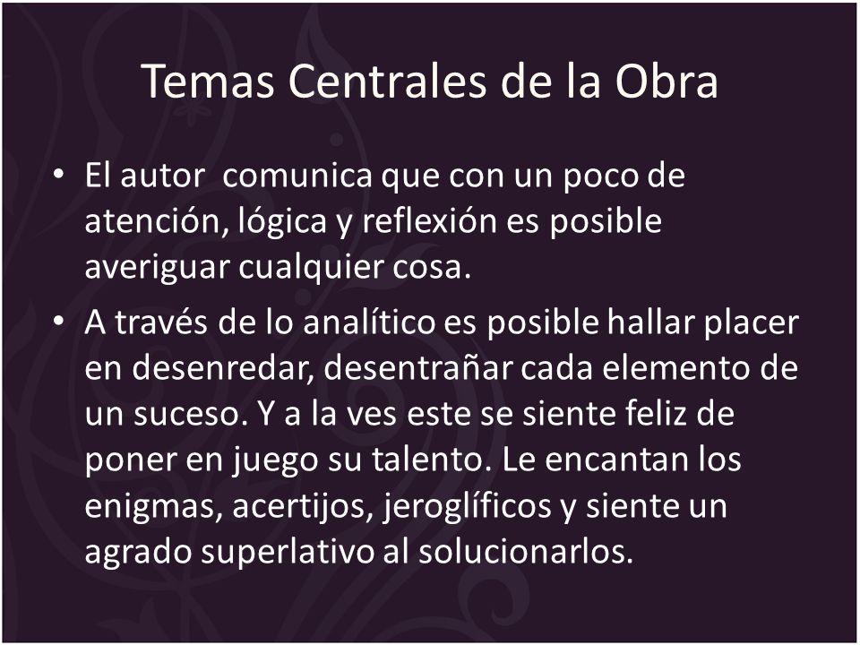 Temas Centrales de la Obra