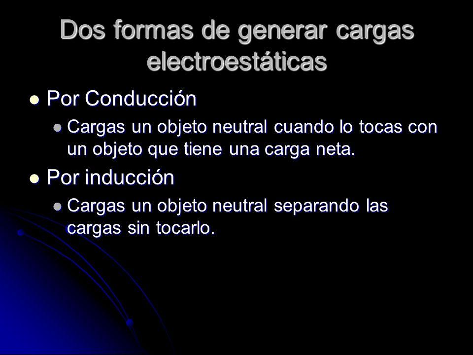 Dos formas de generar cargas electroestáticas