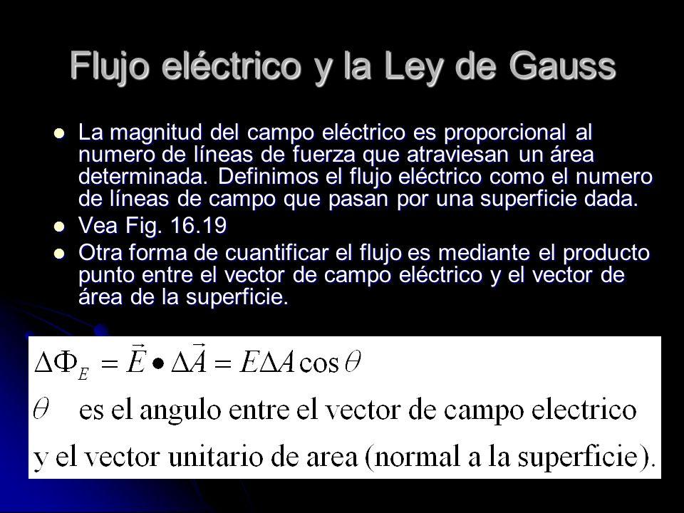 Flujo eléctrico y la Ley de Gauss