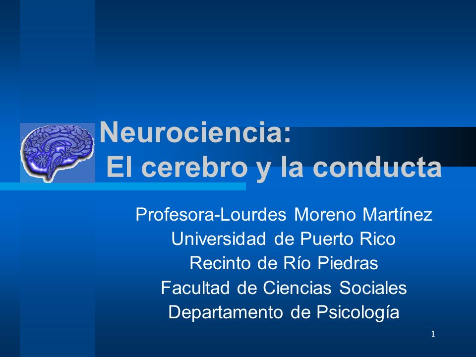 Neurociencia: El cerebro y la conducta