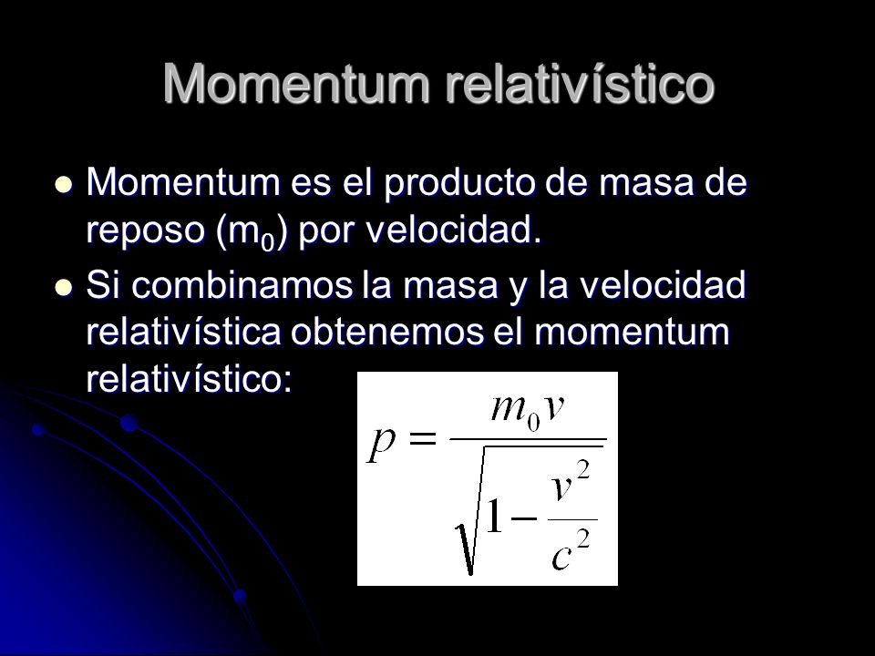 Momentum relativístico
