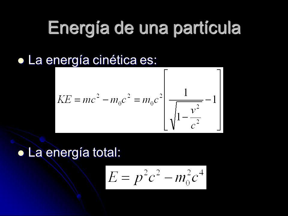 Energía de una partícula