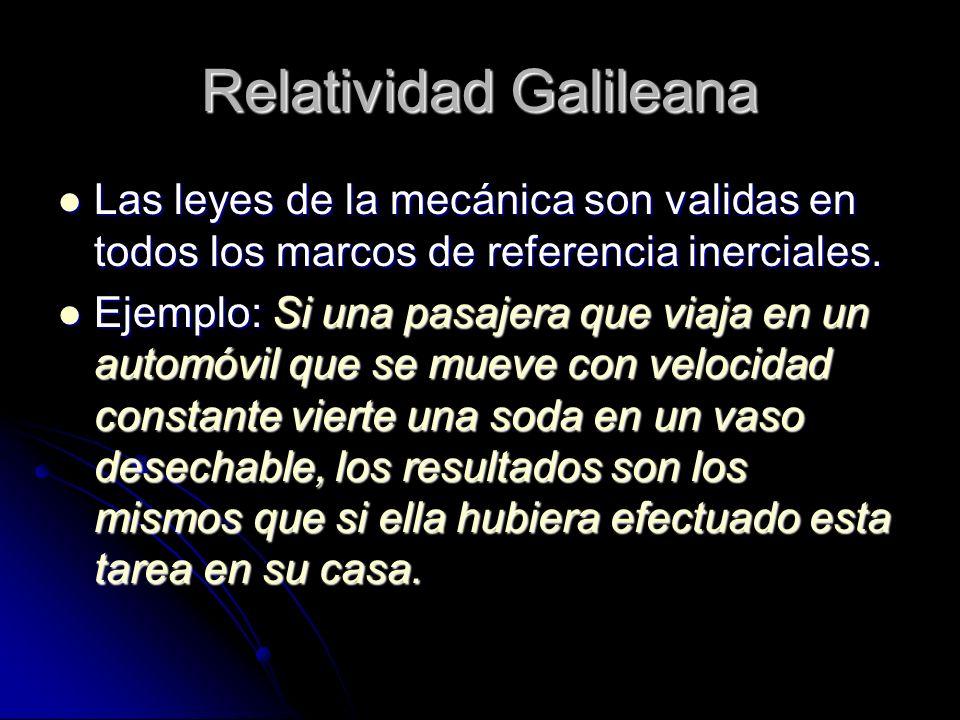 Relatividad Galileana
