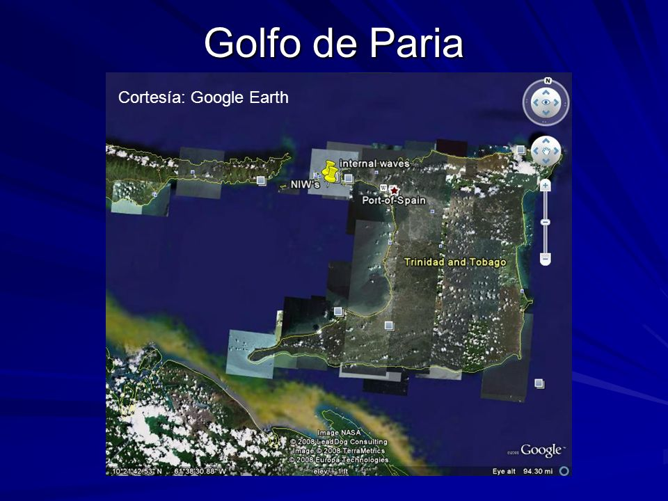 Golfo de Paria Cortesía: Google Earth