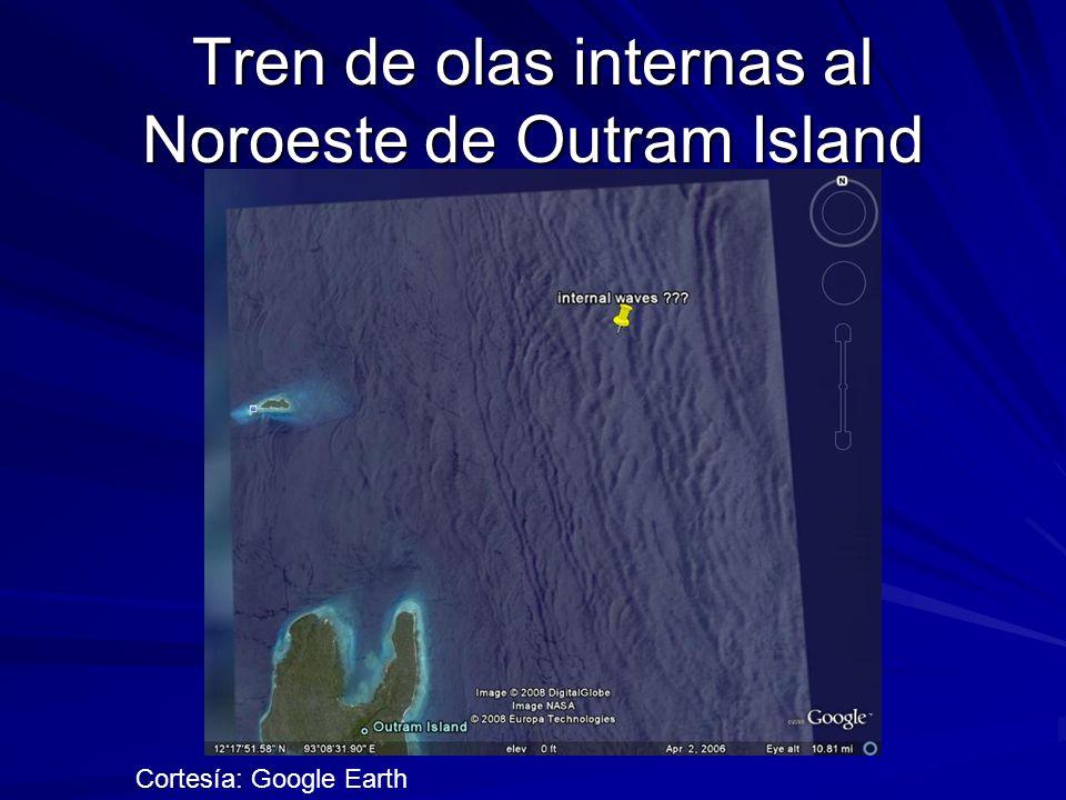 Tren de olas internas al Noroeste de Outram Island