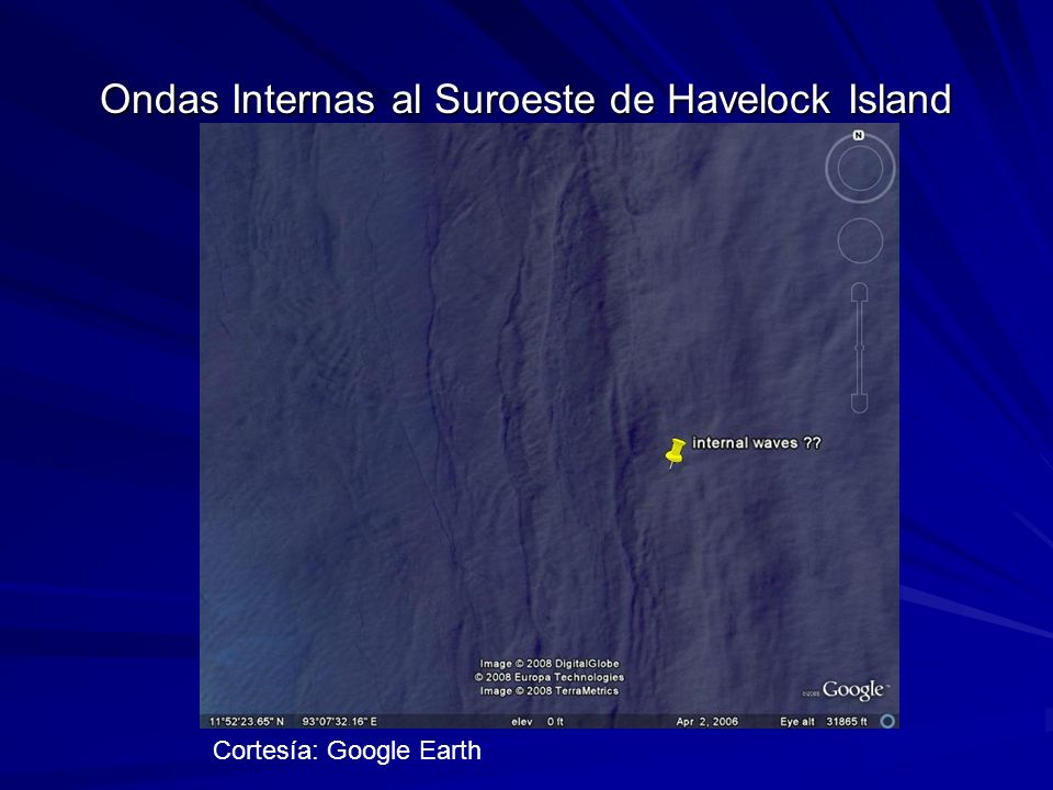 Ondas Internas al Suroeste de Havelock Island