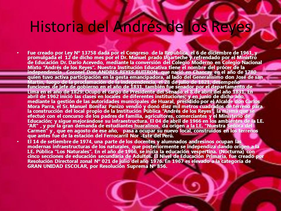 Historia del Andrés de los Reyes