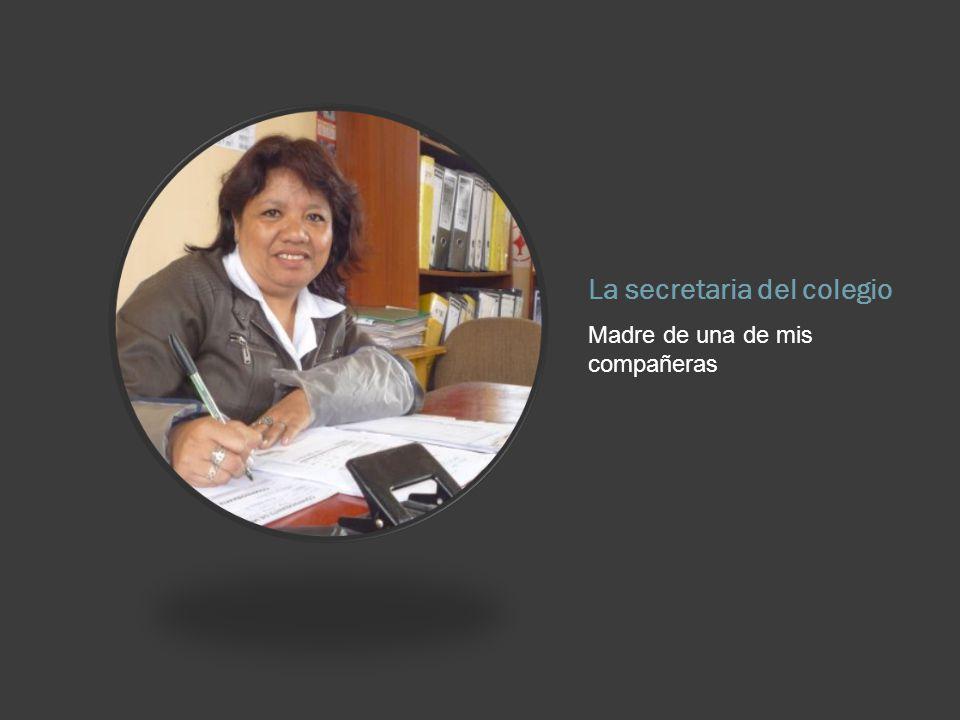 La secretaria del colegio